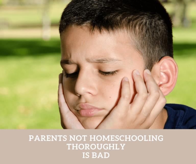 Improper homeschooling